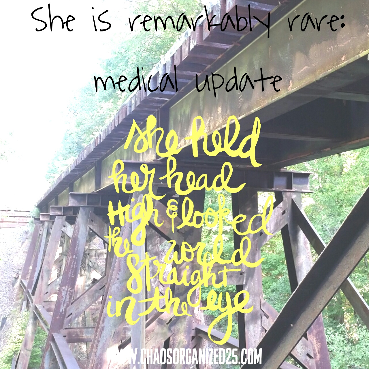 She is Remarkably Rare: Medical Update