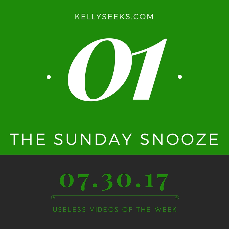 The Sunday Snoozer- Useless Videos Of The Week