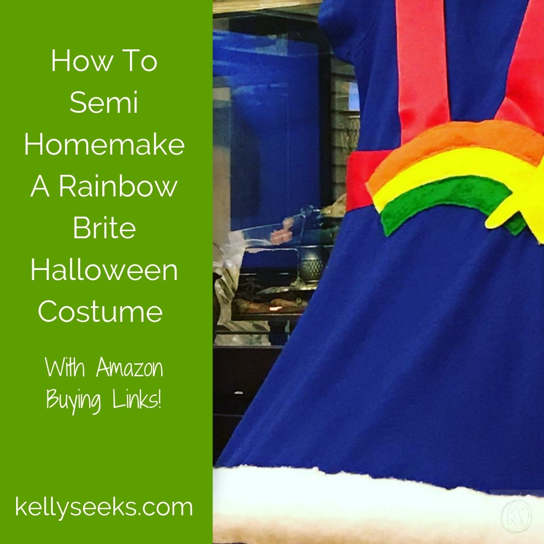 how to semi homemake a rainbow brite halloween costume kelly seeks