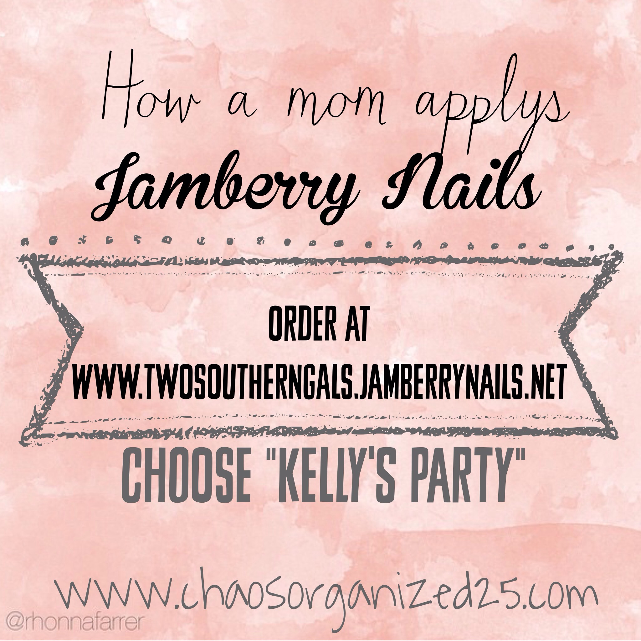 Non Professional Mom Puts on Jamberry Nails