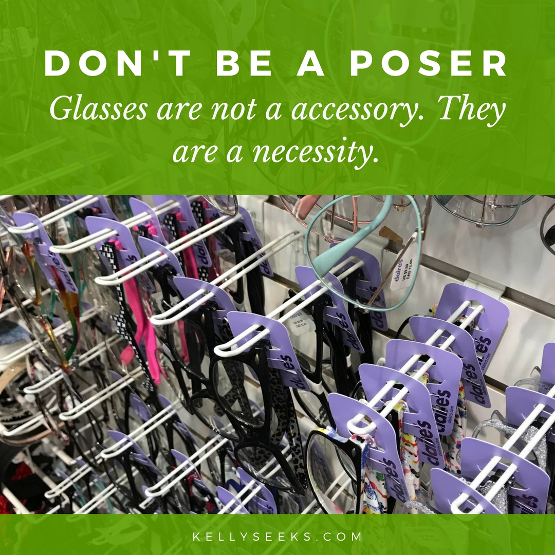 Don't Be A Poser- Stop Wearing Fake Glasses