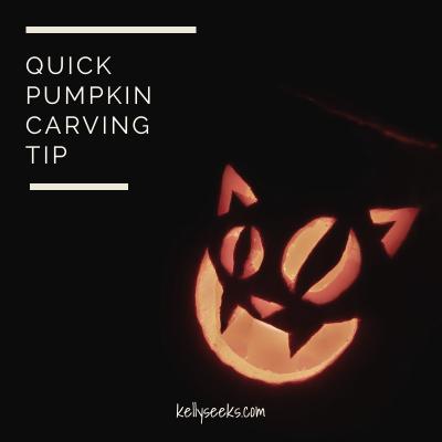 Quick Pumpkin Carving Tip