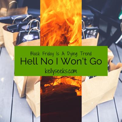 Hello No I Won't Go…Black Friday Shopping